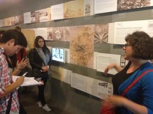Students visit the Pavillon de l'Arsenale Urbanism Museum
