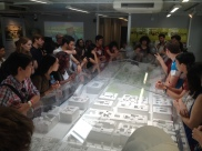 Students learn about the Les Halles redevelopment project