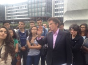 Students meet with former Minister of Culture and Education Jack Lang