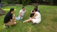 Students preparing public speaking exercises