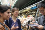Students guide each other on City Walks: urbanism-based neighborhood tours